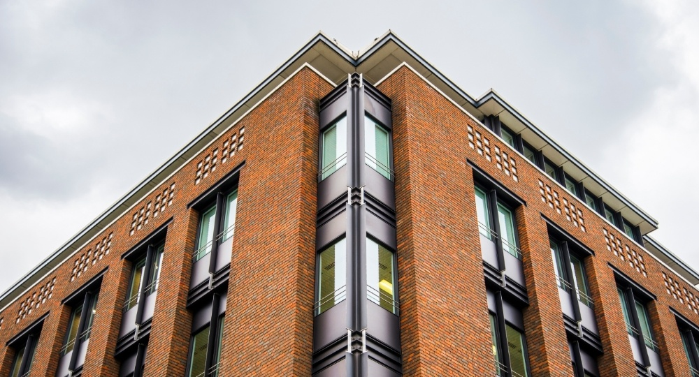 sustainable building with brick